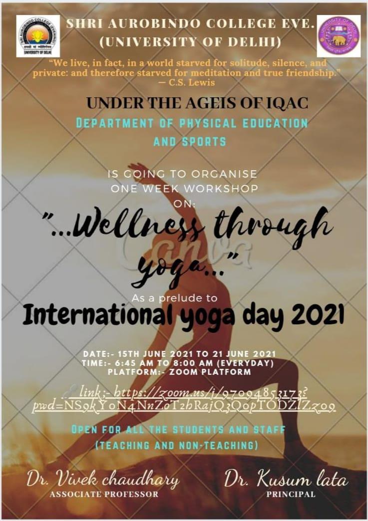 International Yoga Day 2021 Wellness Through Yoga