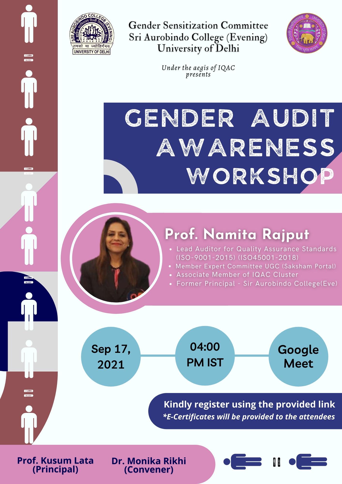 Gender Audit Awareness Workshop
