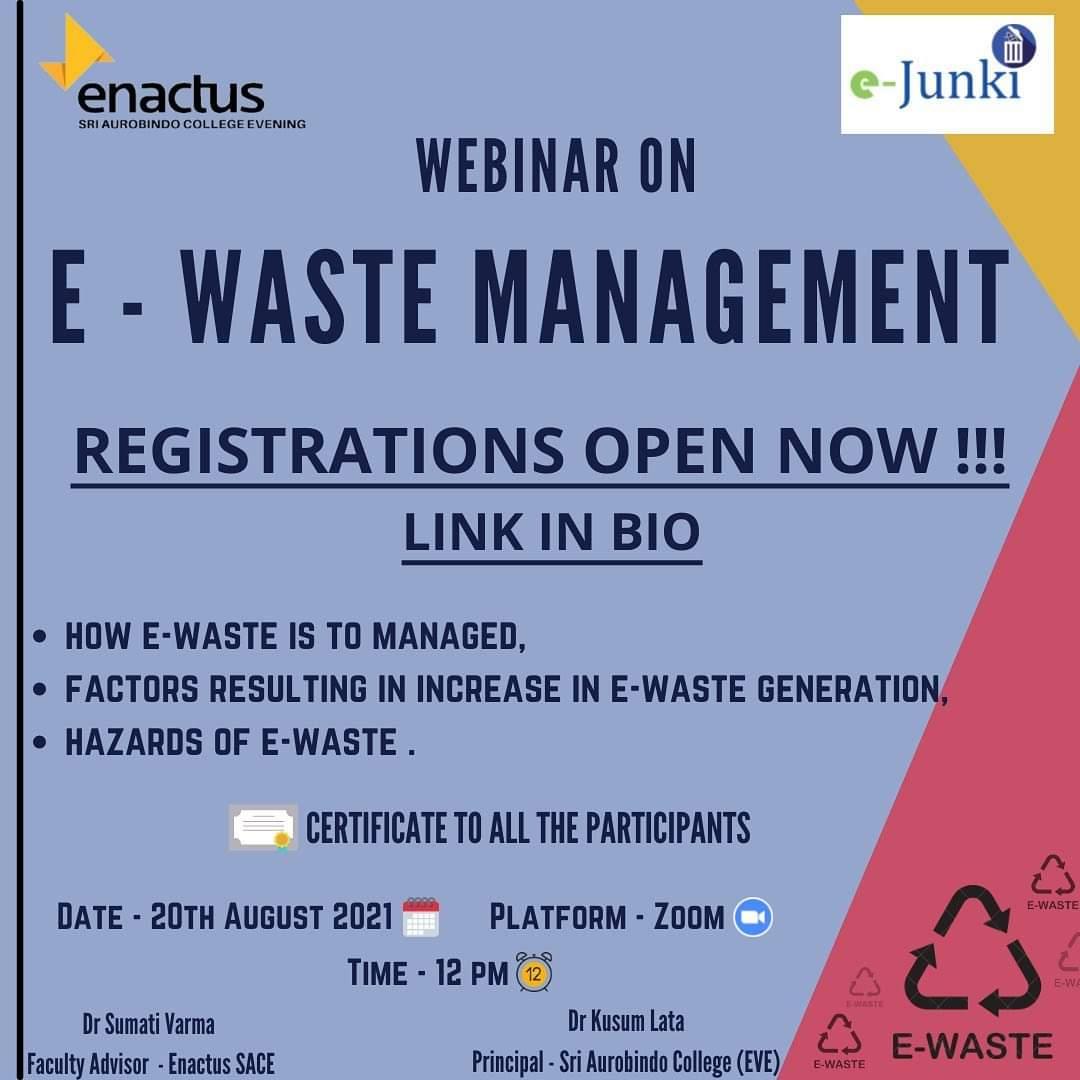 Webinar on E-Waste Management