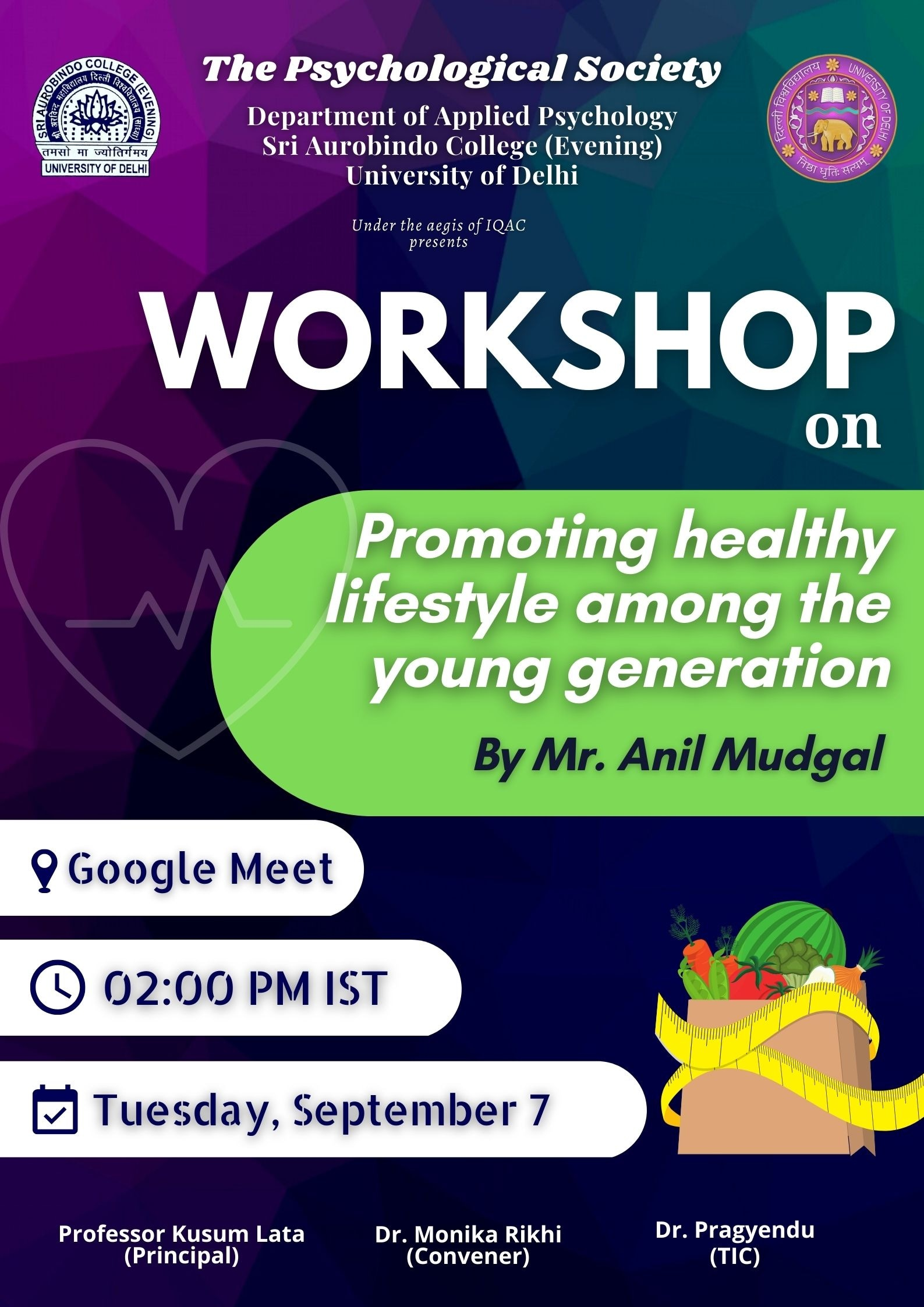 Workshop on Promoting healthy Lifestyle among the Young Generation